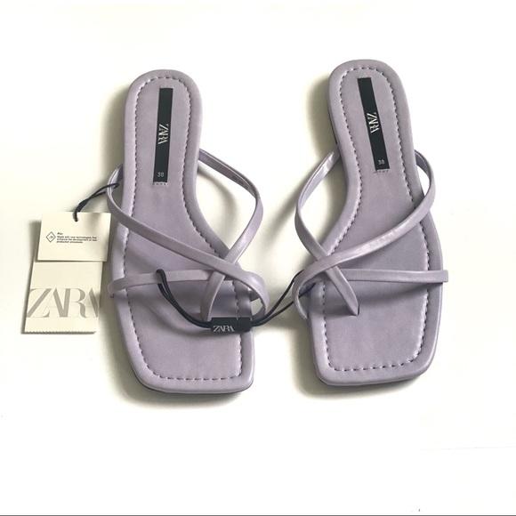Zara Flat Lavender Strappy Sandal